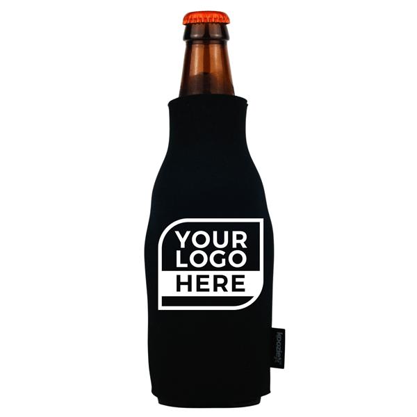 One Color Logo Koozie® Zip-Up Bottle Kooler