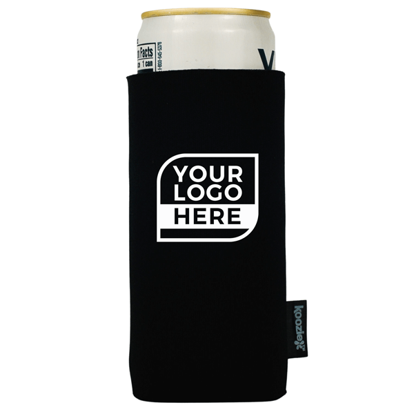 One Color Logo Koozie® Collapsible 2-sided Slim Can Kooler