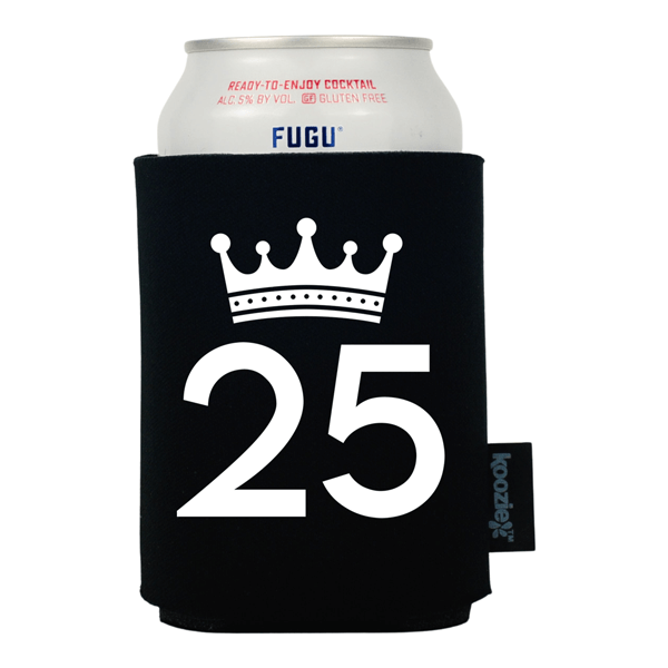 Birthday Koozie® with Crown Graphic