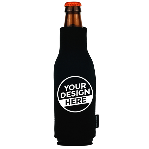Koozie® Bulk Neoprene Zip-Up Bottle Cooler   1 Color 1 Side