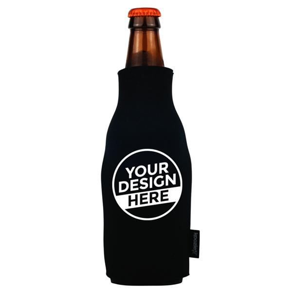 Koozie® Bulk Foam Zip-Up Bottle Cooler   1 Color 1 Side