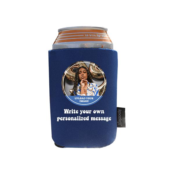 Koozie® Custom Photo Circle Foam Can Cooler |1 Side