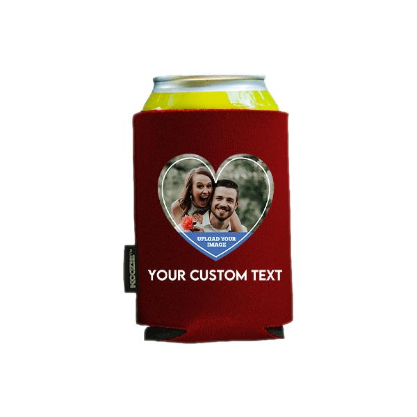 Koozie® Custom Photo Heart Foam Can Cooler  1 Side