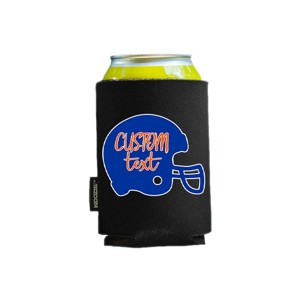 Koozie? Custom Text with Helmet Foam Can Cooler |1 Side