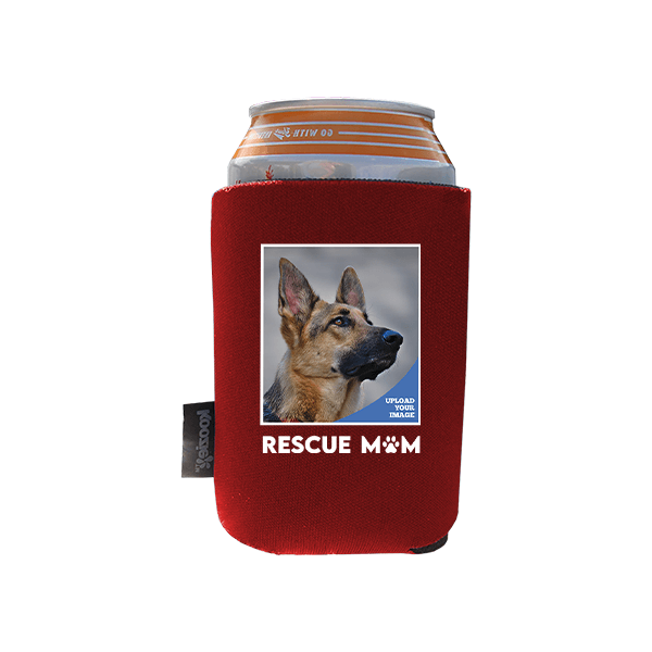 Koozie® Custom Photo Rescue Mom Foam Can Cooler  1 Side