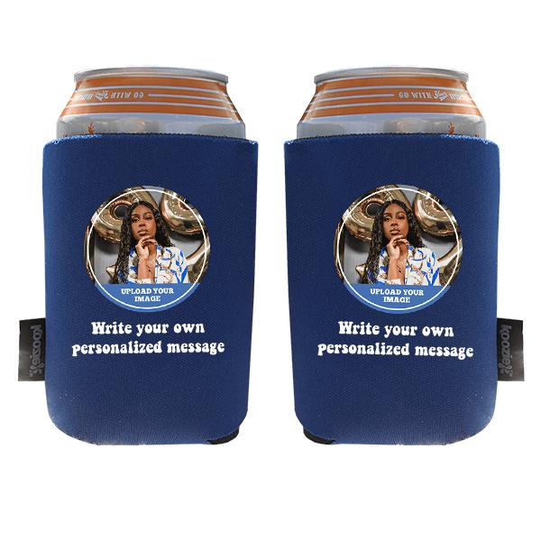 Koozie® Custom Photo Circle Foam Can Cooler | 2 Sides