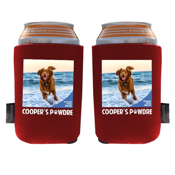 Koozie® Custom Photo Pawdre Foam Can Cooler   2 Sides