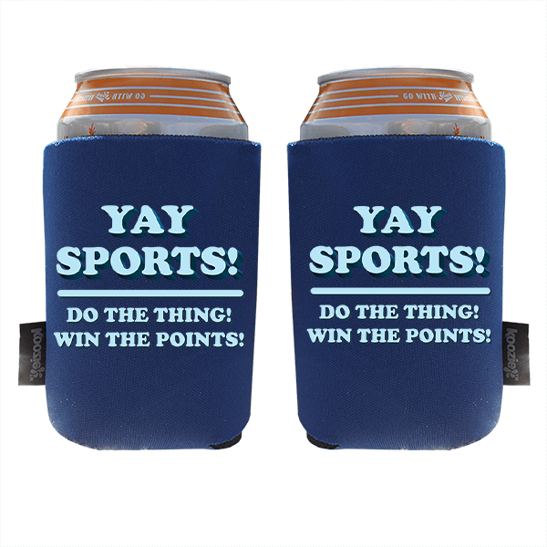 Koozie? Yay Sports Foam Can Cooler   2 Sides