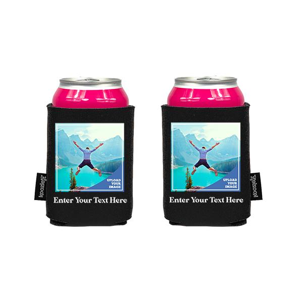 Koozie® Custom Photo Square Foam Can Cooler | 2 Sides