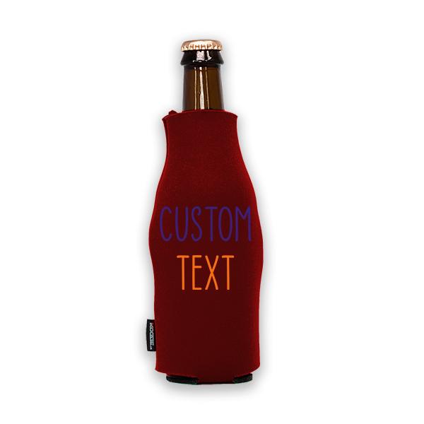 Koozie? Team Custom Foam Zip-Up Bottle Cooler | 1 Side