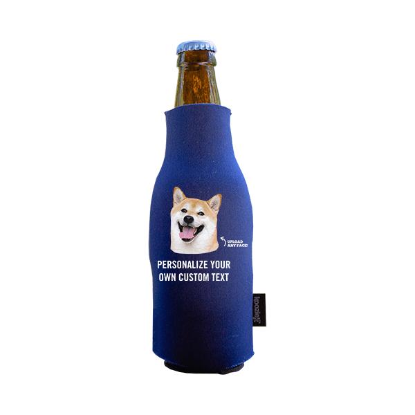 Koozie® Custom Photo Custom Face Foam Zip-Up Bottle Cooler   1 Side