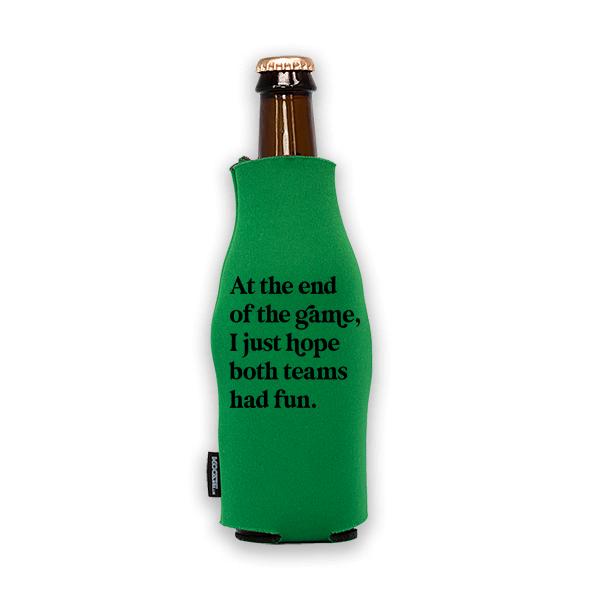 Koozie? Both Teams Had Fun Foam Zip-Up Bottle Cooler   1 Side