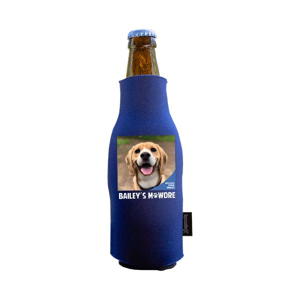 Koozie® Custom Photo Mawdre Foam Zip-Up Bottle Cooler | 1 Side