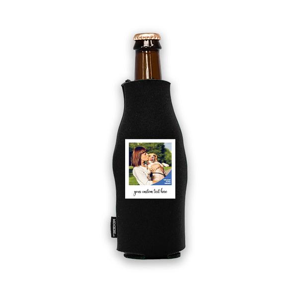 Koozie® Custom Photo Polaroid Foam Zip-Up Bottle Cooler | 1 Side