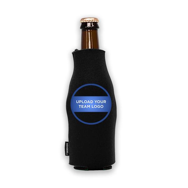 Koozie? Team Logo Custom Foam Zip-Up Bottle Cooler | 1 Side
