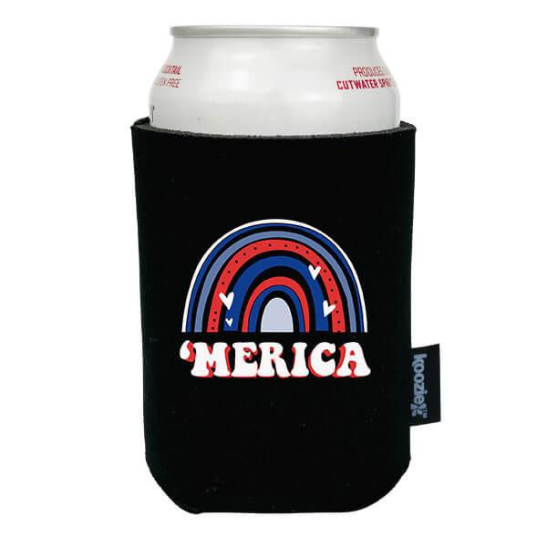 Koozie® America Rainbow Patriotic Drink Cooler