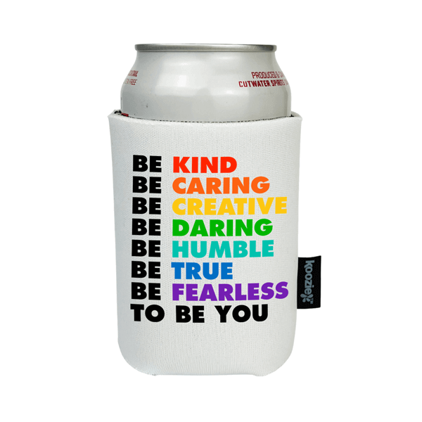Koozie® Be Kind Be Caring Teacher Full Color Drink Cooler
