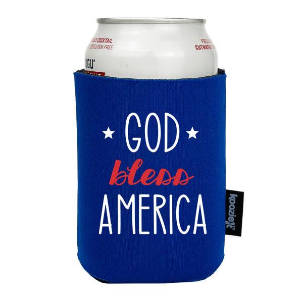 Koozie® God Bless America Patriotic Drink Cooler