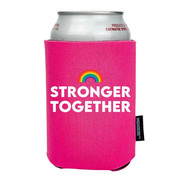 Koozie® Stronger Together Pride Drink Cooler