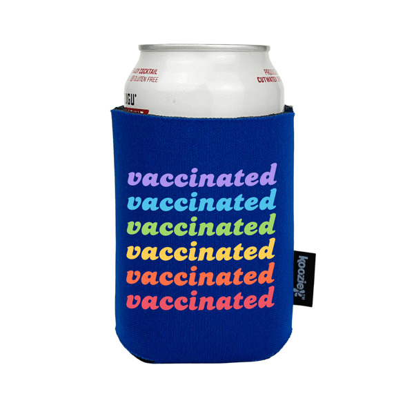 Koozie® Vaccinated in Rainbow Full Color Drink Cooler