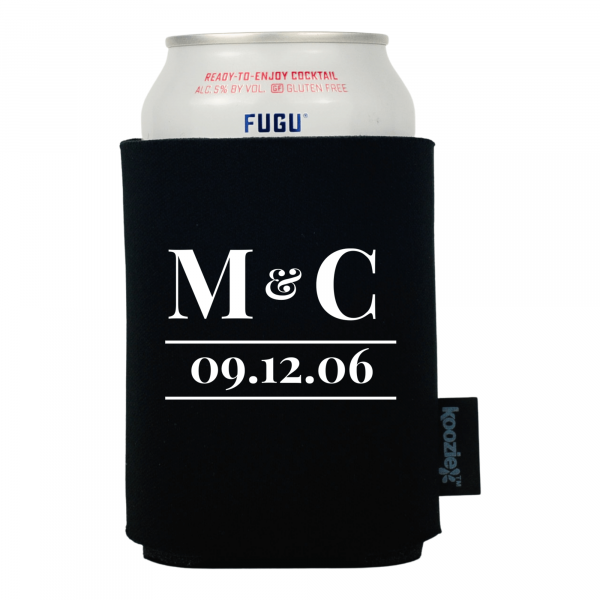 Koozie® Modern Initial Anniversary Drink Cooler