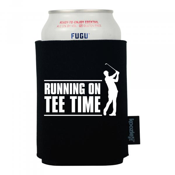 Koozie® Running on Tee Time Drink Cooler