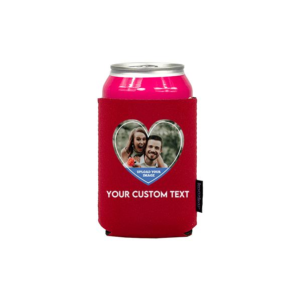 Koozie® Custom Photo Heart Neoprene Can Cooler | 1 Side