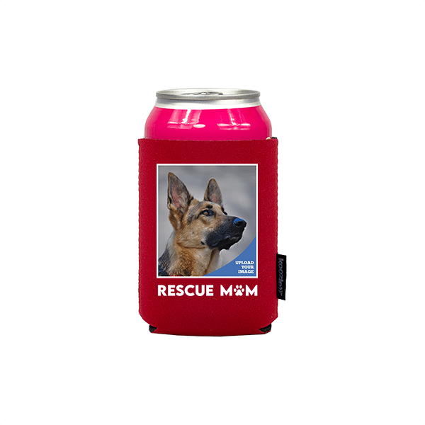 Koozie® Custom Photo Rescue Mom Neoprene Can Cooler | 1 Side