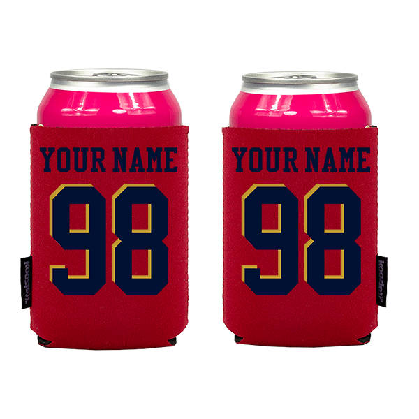 Koozie? Custom Name and Number Neoprene Can Cooler | 2 Sides