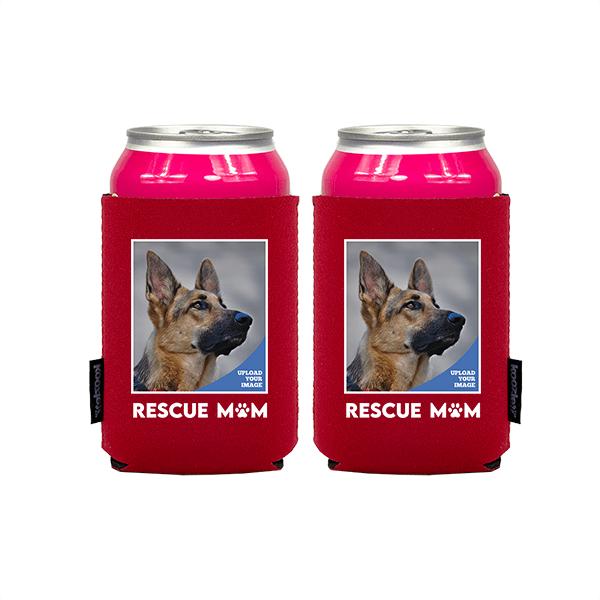Koozie® Custom Photo Rescue Mom Neoprene Can Cooler   2 Sides