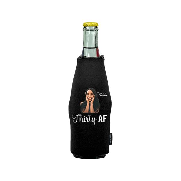 Koozie® Custom Photo Custom Face AF Neoprene Zip-Up Bottle Cooler   1 Side