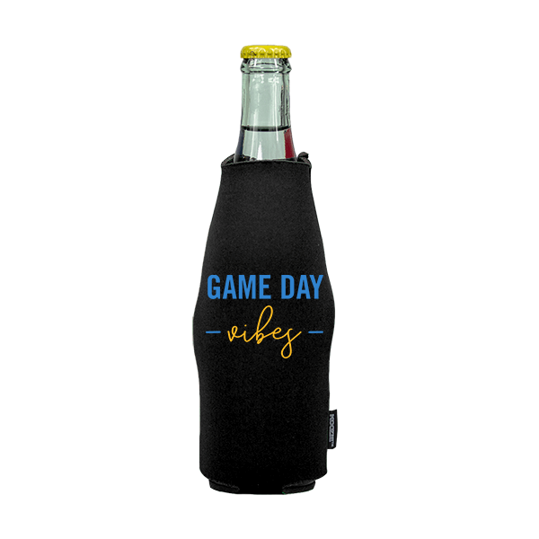 Koozie? Game Day Vibes Neoprene Zip-Up Bottle Cooler   1 Side