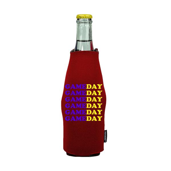 Koozie? Game Day Custom Neoprene Zip-Up Bottle Cooler | 1 Side