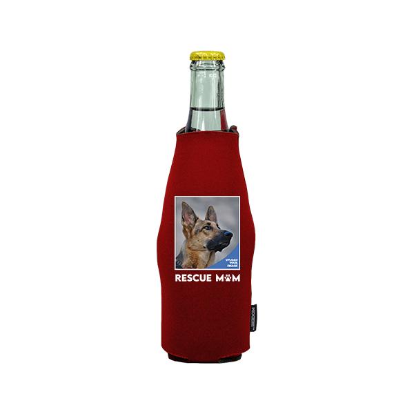 Koozie® Custom Photo Rescue Mom Neoprene Zip-Up Bottle Cooler | 1 Side