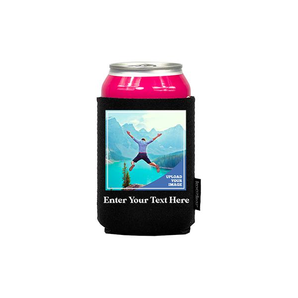 Koozie® Bulk Custom Photo Square Neoprene Can Cooler   1 Side