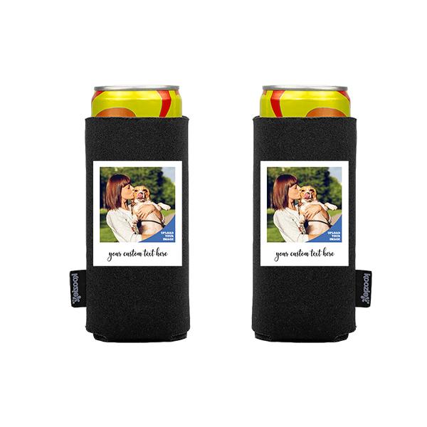 Koozie® Custom Photo Polaroid Slim Can Cooler | 2 Sides