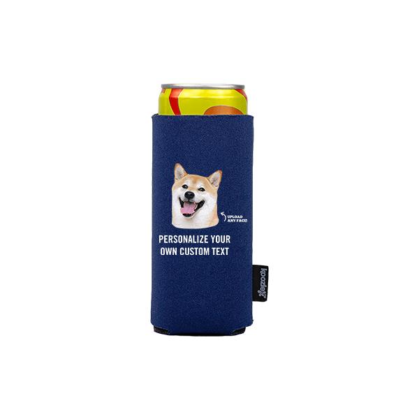 Koozie® Custom Photo Custom Face Slim Can Cooler | 1 Side