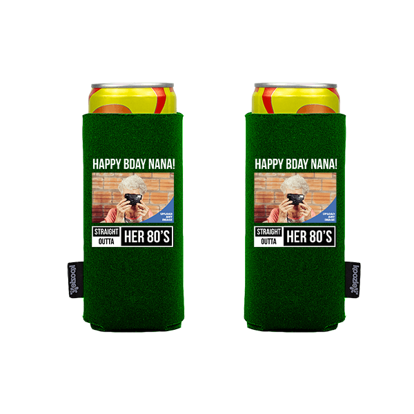 Koozie® Custom Photo Straight Outta Slim Can Cooler | 2 Sides