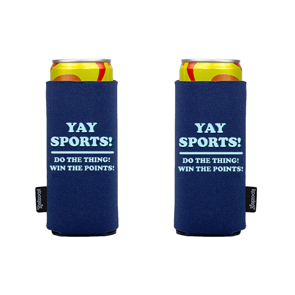 Koozie? Yay Sports Slim Can Cooler   2 Sides