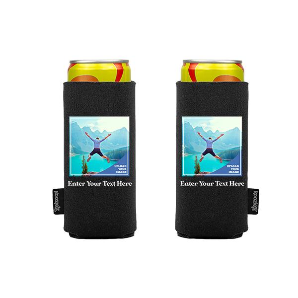 Koozie® Custom Photo Square Slim Can Cooler   2 Sides