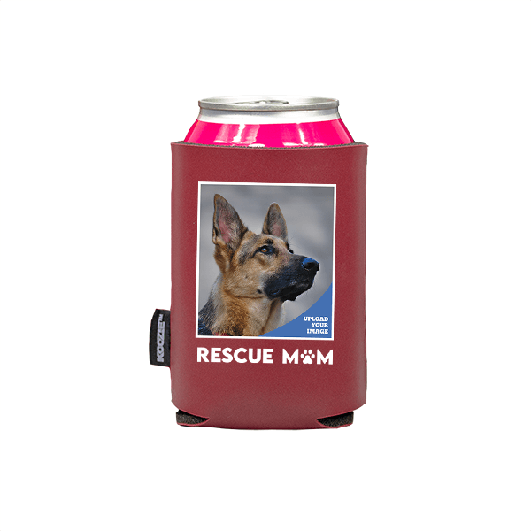 Koozie® Custom Photo Rescue Mom Vegan Leather Can Cooler   1 Side