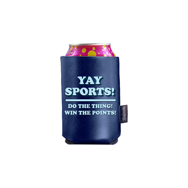 Koozie? Yay Sports Vegan Leather Can Cooler   1 Side