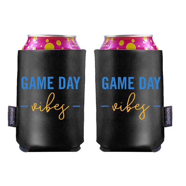 Koozie? Game Day Vibes Vegan Leather Can Cooler | 2 Sides