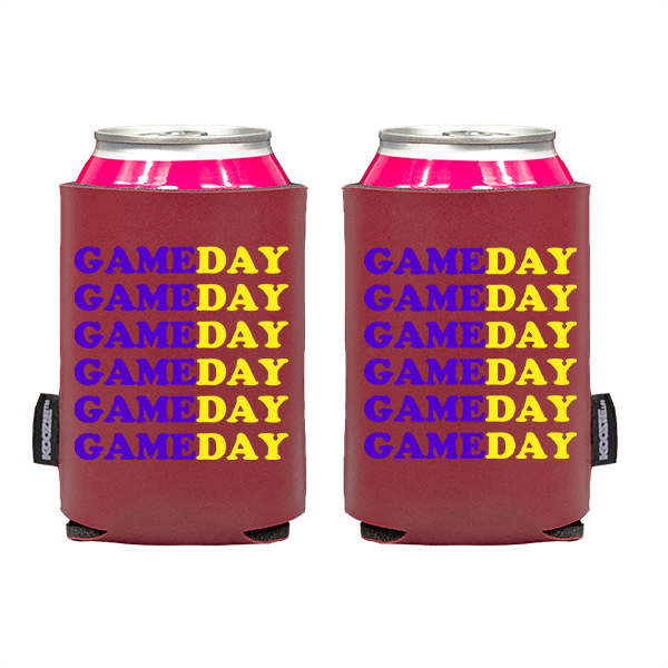 Koozie? Game Day Custom Vegan Leather Can Cooler   2 Sides
