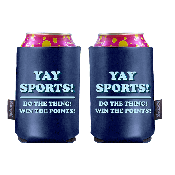 Koozie? Yay Sports Vegan Leather Can Cooler   2 Sides