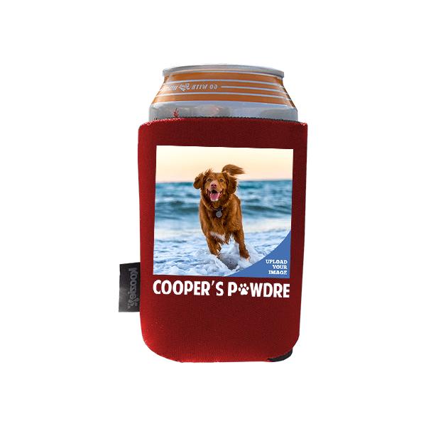 Koozie® Custom Photo Pawdre Foam Can Cooler  1 Side