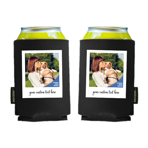 Koozie® Custom Photo Polaroid Foam Can Cooler   2 Sides