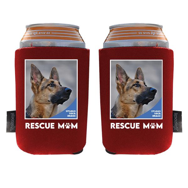 Koozie® Custom Photo Rescue Mom Foam Can Cooler | 2 Sides