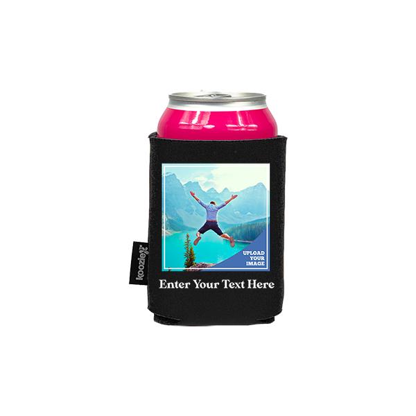 Koozie® Custom Photo Square Foam Can Cooler |1 Side