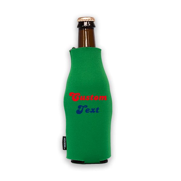 Koozie? Fan Custom Foam Zip-Up Bottle Cooler   1 Side